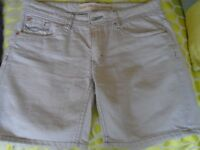 Stone Colour Denim shorts from Next