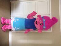 Adult Poppy Troll fancy dress mascot for sale