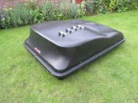 Roof Box Car Van Camper Trailer double lock with key 4x3 good size 430 ltr