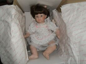 "Danbury Mint collection ""Jessica"" porcelain doll by Susan Walken"