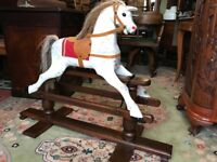 Antique Rocking Horse Swing Frame Vintage Small Rocking Horse - See Delivery