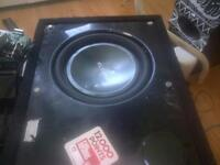 1500 watt RMS eclipse titanium sub woofer in ported box