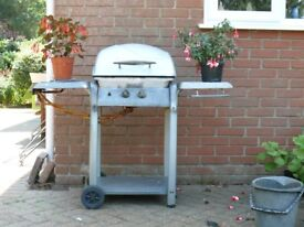 Charcoal BBQ converted from gas. Free