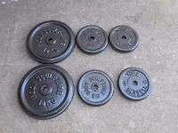 Barbell and Dumbbell set with 74kg of Cast Iron Weights - Plymouth