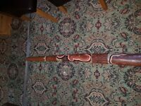 large vintage carved painted didgeridoo