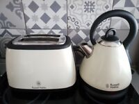 Russell Hobbs toaster and kettle combo (cream and black)