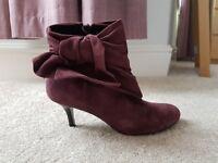 Faith purple suede boots UK size 6 (39)
