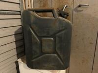 5 20 litre metal jerrycans