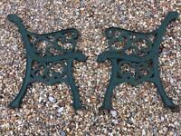 Cast Iron Garden Patio Bench Ends
