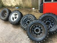 5 x INSA turbo off road wheels and tyres