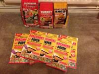 Job lots of oven , microwave steaming bags and parchment oven paper for sale