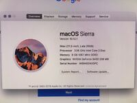 "iMac Late 2009 21"" 500GB 8GB RAM 3.06ghz Core 2 Duo"