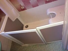 Disabled shower and enclosure