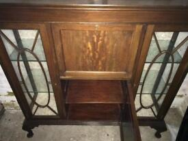 1940s display cabinet/writing desk