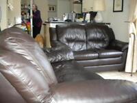 2x2 seater leather sofa