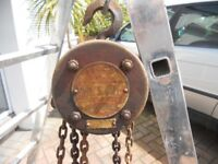 Chain host manual block and tackle