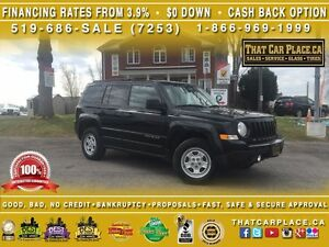 2015 Jeep Patriot North-0.9%Financing or $1800 Cashback-$0DOWN