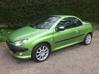 Peugeot 206 convertible SOLD