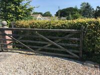 Wooden Driveway/Farm Gate
