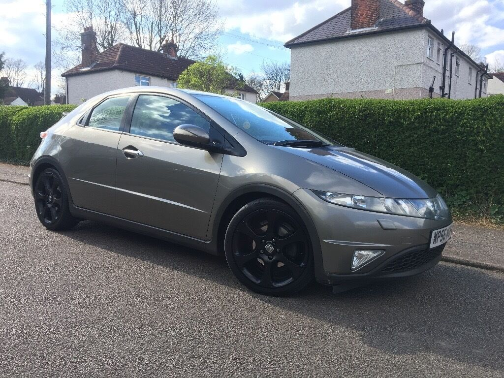 2007 (56) HONDA CIVIC I CTDI SPORT - DIESEL CDTI - GREY - 2 KEYS - FSH - JUST SERVICED £2750