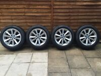 """Genuine BMW 5 Series F10/F11 17"""" Alloy Wheels With Excellent Tyres"""