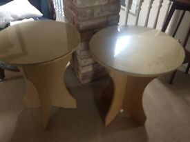 Glass Topped Occasional tables