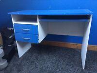 Blue and White Desk