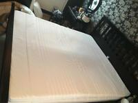 Super king size mattress and memory foam topper