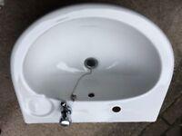 White Porcelain Bathroom Sink Used