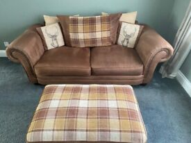 SCS County Stag design Sofa, Accent chair & Footstool
