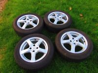 "4 15"" Dezent Alloy Wheels fitted with Falken Winter Tyres"