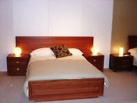Double Bed with Bedsides - Australian Red Gum