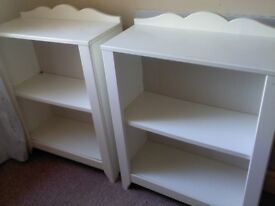 2 IKEA MEDIUM SIZE WHITE BOOKSHELVES
