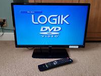 "Logik 24"" Flat Screen LED LCD TV DVD combi Full HD 1080p with Record & Play USB"