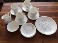 WEDGEWOOD CHINA TEA SET. WILD OATS. 27 PIECES. EXC.