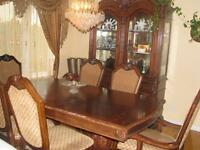Dining table set with Buffet