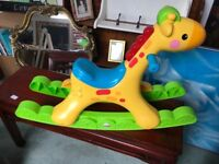 Rocking Horse x 2 Fisher Price Baby Chair x 2 Fisher Price Push Along x 2