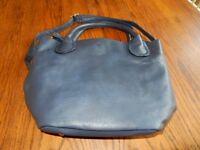 Ladies Navy Leather Handbag