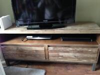 REDUCED AGAIN! Industrial Style TV Unit wood and metal CARGO