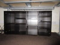 Ikea Shelving Cabinet Dark Brown/Black