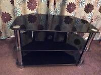 Black Glass TV Stand / Unit / Cabinet