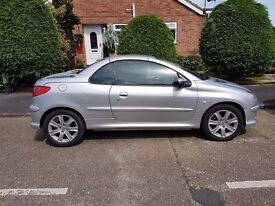Peugeot 206 Convertible 2005 Silver - Good Condition, 2 Month MOT, Low Mileage
