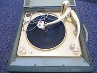 Record Player Portable Collaro, plays Lps.45s, any vinyl records.