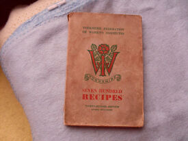 YORKSHIRE FEDERATION OF WOMENS INSTITUTE YORKSHIRE - 32nD EDITION 1954