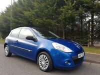 MARCH 2009 RENAULT CLIO EXTREME 1.2 16v PETROL FACELIFT MODEL 3DOOR BLUE EXCELLENT CONDITION MOT AUG