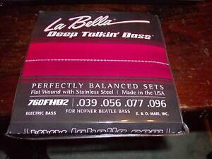 Labella Flatwound For Hofner Beatle Bass Strings