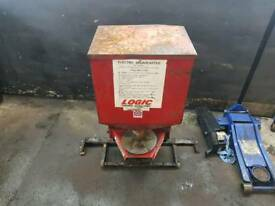 Quad atv logic electric broadcaster for slug pellets pheasant feed etc