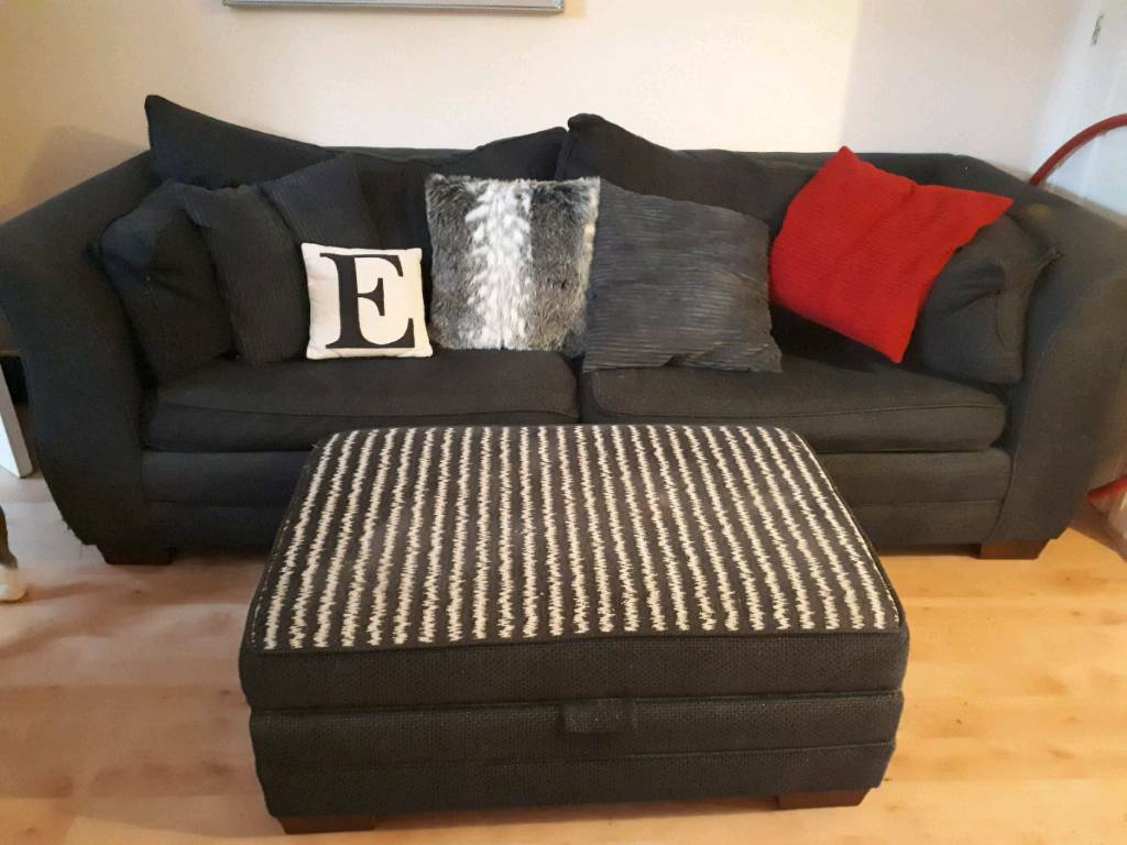 Sofa and foot stool/storage unit
