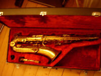 Couesnon tenor saxophone -beautiful classic sax, plays but needs some attention on low notes