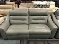 Great leather 3 seater + Armchair